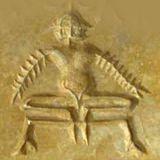 Медитирующий. Печать из Хараппы.