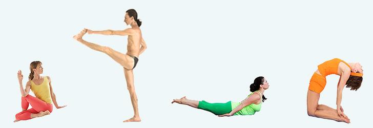 Положение тела при выполнении разных асан
